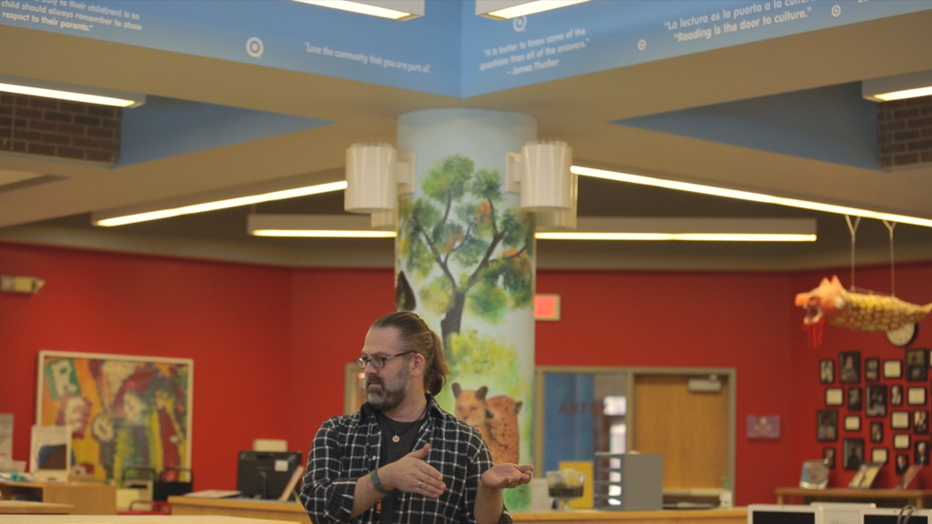Psychologist, Foster Parent, Trainer, Speaker Michael Harris providing FASD training to the faculty of Anishinabe Academy.
